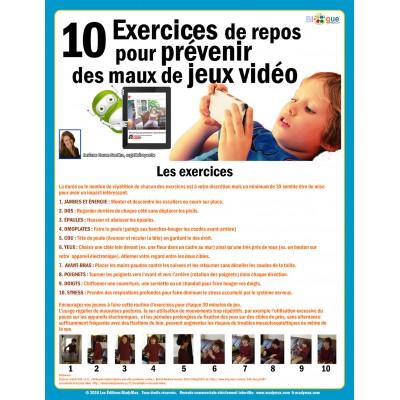 ***GRATUIT IMPRIMABLE*** 10 Exercices de repos pour prévenir des maux de jeux vidéo