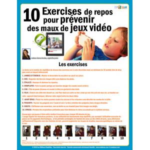 ***GRATUIT IMPRIMABLE*** 10 Exercises de repos pour prévenir des maux de jeux vidéo