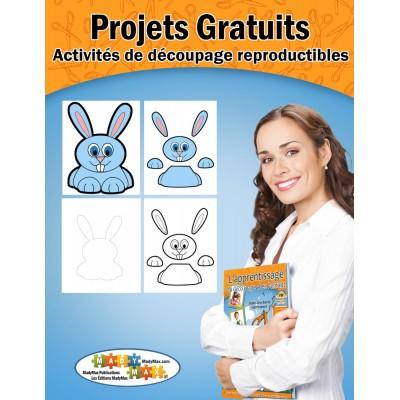 Projets Gratuits : activités de découpage reproductibles  -  Joyeuses Pâques