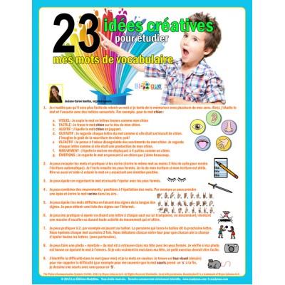 23 ideés créatives pour étudier mes mots de vocabulaire